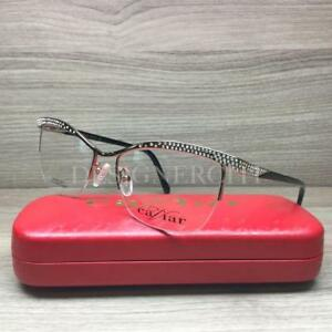 c6f2250720e Caviar M4402 4402 Eyeglasses Gold Black Swarovski Crystals C21 Authentic  53mm