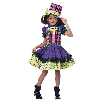 Girls Deluxe Mad Hatter-ess Halloween Costume