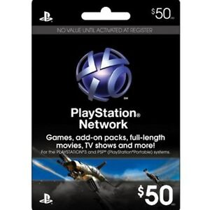 $50 US PLAYSTATION NETWORK CARD PSN for PS3