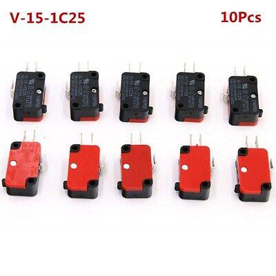 10x 125V/250V 15A Microwave Push Button SPDT Micro Switch V-15-1C25 Limit Switch