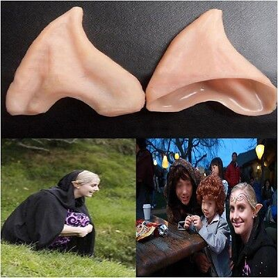 Halloween Party Latex Fairy Pixie Elf Ears - One Pair w/Random Color and Design
