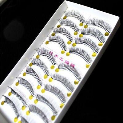 10Pairs/Box Natural Thick Long False Eyelashes Fake Eye Lashes Voluminous Makeup
