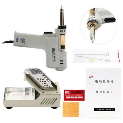 110v100w Electric Vacuum Desoldering Pump Solder Sucker Gun 350c450 Fast Ship