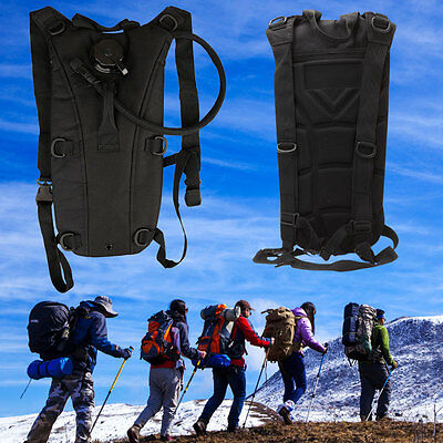 3L Water Backpack W Bladder Bag Hydration Climbing Camping Hiking Survival Packs