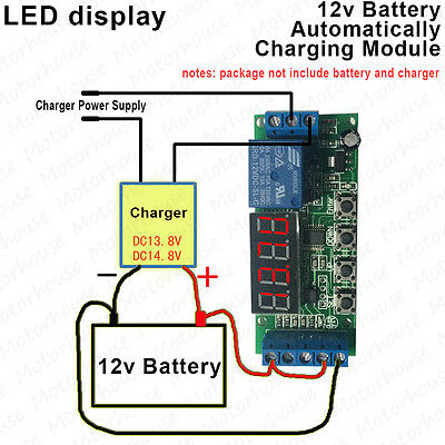 Led Display 12v Battery Automatically Charger Charging Controller Protect Module