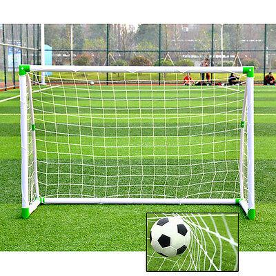 Portable 6'x 4' Soccer Goal Durable PVC Nets Folding Football Post Training
