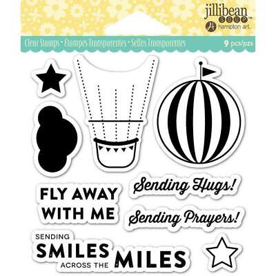 Fly Away Hot Air Balloon Clear Acrylic Stamp Set by Jillibean JB0841 NEW!