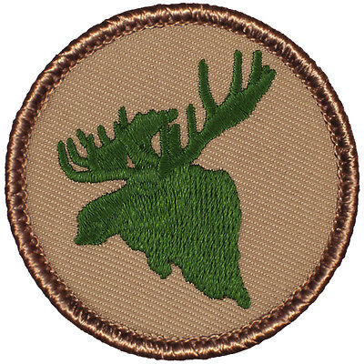 Cool Boy Scout Patrol Patch! - #793 The Green Moose Patrol! - Cool Moose