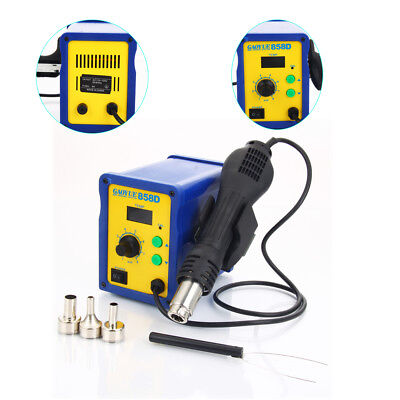 858d 110v 700w Electric Hot Air Heat Gun Soldering Station Desoldering Tool Kit
