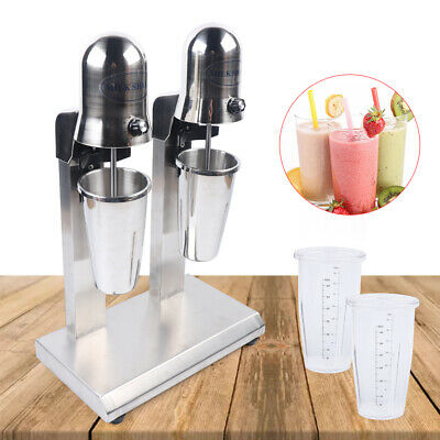Commercial Double Head Milkshake Maker Mixer Machine Stainless Steel Us Stock