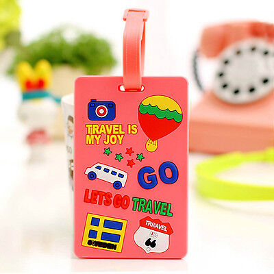 Cute Portable Secure Travel Suitcase ID Luggage Large Tag Label Gift S1