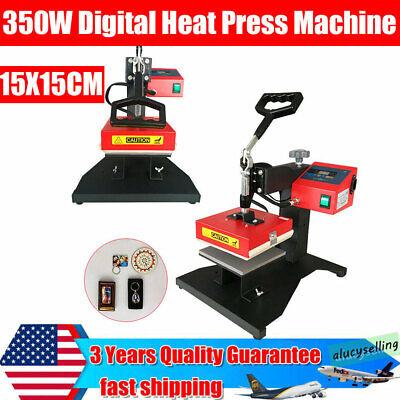 350w Digital Heat Press Machine 15x15cm Sublimation Transfer T-shirt Printer Usa
