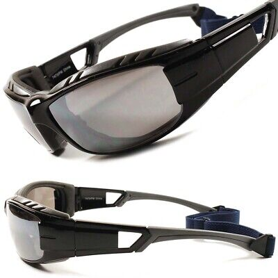 Foam Padded Strap Extreme Sport Dirt Bikes Motorcycle Biker Black Sunglasses for sale  Shipping to India