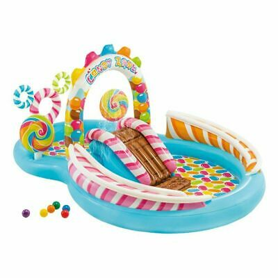 Candy Play Zone Inflatable Swimming Pool Blow Up Water Play Splash Centre 7149NP