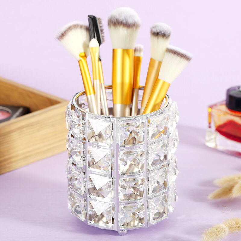 Make Up Organizer Kosmetikbox Beauty Pinsel Kristall Metall Halter Aufbewahrung