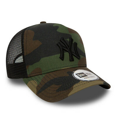 NEW ERA MENS BASEBALL CAP.NEW YORK YANKEES MLB CAMO A FRAME MESH TRUCKER HAT 73