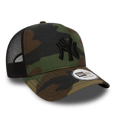 NEW ERA MENS BASEBALL CAP.NEW YORK YANKEES MLB CAMO A FRAME MESH TRUCKER HAT 73