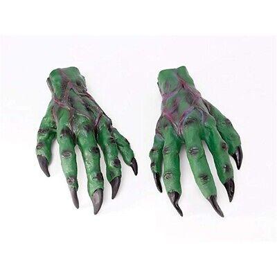 ADULT RED DEVIL MONST HANDS LATEX GLOVES COSTUME DRESS ACCESSORY MR156018