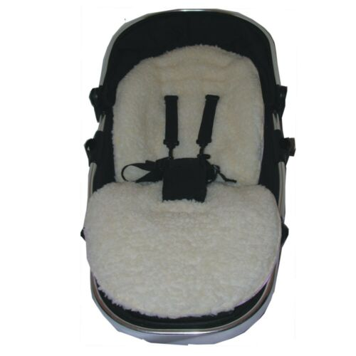 Hand Tailored Faux Lambs Fleece Seat Liners - Select your model of pushchair