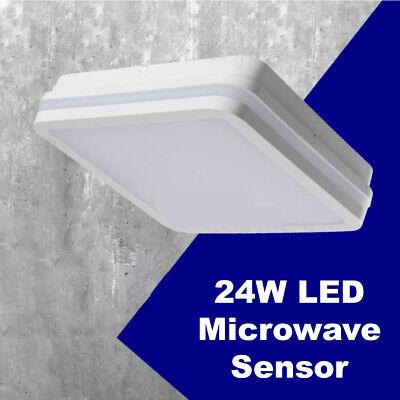 Exterior IP54 Superficie Mampara Pared Luz Seguridad LED Para Motion Señor 24W