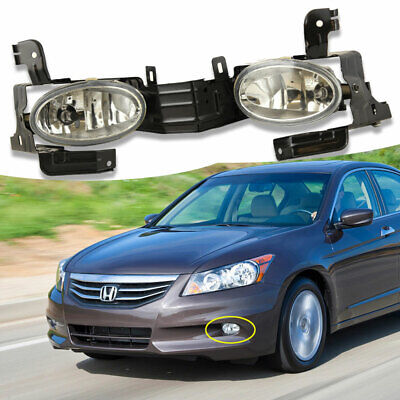 Fit Honda Accord 2011 2012 Clear Fog Lights Driving Lamp OE Replacement Assembly Halogen Driving Lamp