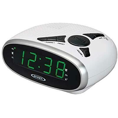 Jensen Digital Radio AM FM Clock Dual Alarm LED Display Sleep Snooze