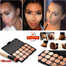 Pro 15 Colour Concealer Palette Kit Face Makeup Contour Cream Powder + 1 Brush