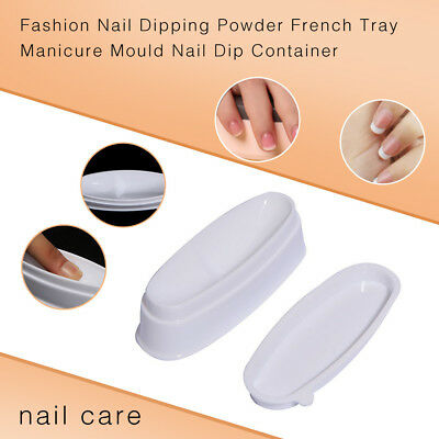 1PC Fashion Nail Dipping Powder French Tray Manicure Mould Nail Dip Container (Dip Tray)