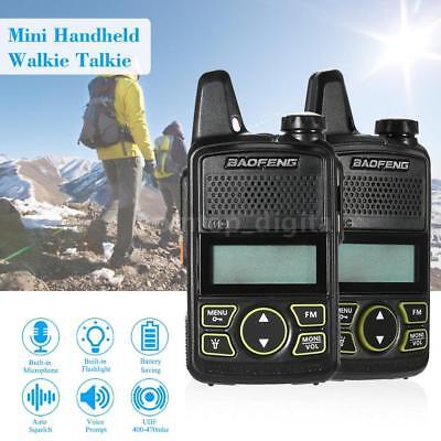 BAOFENG BF-T1 Walkie Talkie 2-Way Radio 20CH PTT Mini UHF 400-470MHz 1500mah