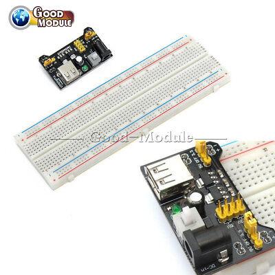 3.3v 5v Mb102 Power Supply Boardpcb Breadboard 830 Tie Point For Arduino Diy