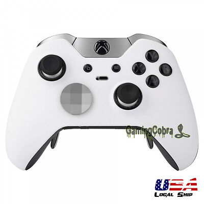 Front Shell Faceplate Cover for Xbox One Elite Controller Soft Touch White White Faceplate Cover