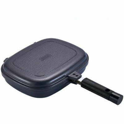 Happycall Compact Separable Double Sided Frying Pan Jumbo Grill - Sand Navy