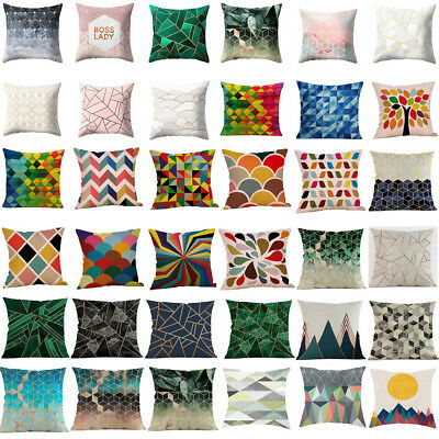 - Geometric Design Cushion Square Throw House Pillow Cover Case Pillowslip Adorn