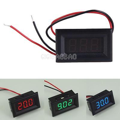 Mini DC 2.5V To 30V Voltage Meter LED 3-Digital Panel Display Volt Voltmeter New