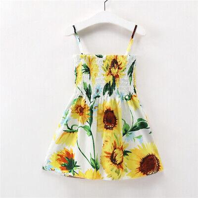 Hawaiian Floral Kids Girl Dress Printed Flowers Summer Dresses Children - Printed Flower Girl Dresses