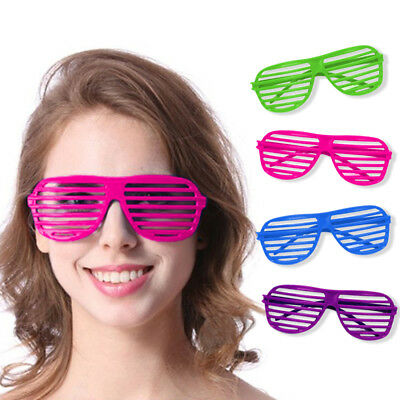 Novelty Place Neon Color Party Shutter Glasses Slotted Shading Toy Sunglasses