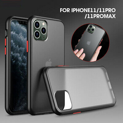 For iPhone 11 Pro Max Ultra-Thin Hybrid Shockproof TPU Bumper Slim Case -