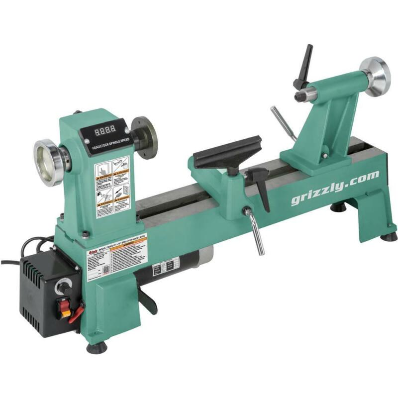 """Grizzly T25920 12"""" x 18"""" Variable-Speed Benchtop Wood Lathe"""