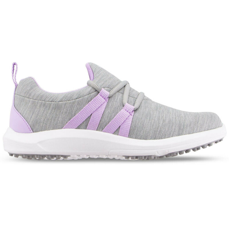 FootJoy Ladies Leisure Slip On Spikeless Golf Shoes - Gray/Orchid