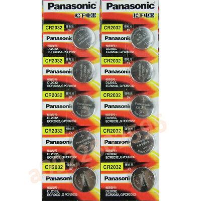 Usado, 10*PANASONIC ECR2032 CR2032 3v Lithium Battery Coin Cell comprar usado  Enviando para Brazil