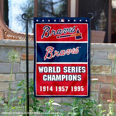 Atlanta Braves World Series Champions (Atlanta Braves 3-Time World Series Champions Garden Flag and Yard Banner)