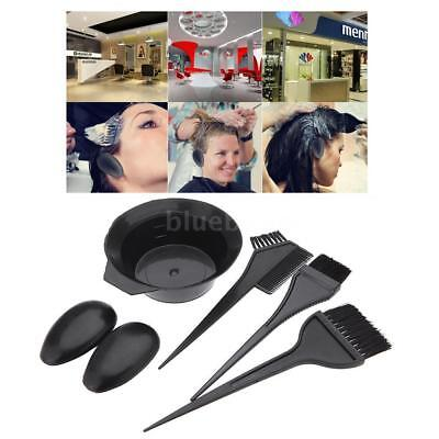 Salon Black Tint Bowl Brush Set Hairdressing Colouring Styling