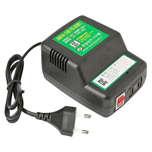 220V to 110V Step Down Voltage Converter Transformer Max Power 200VA