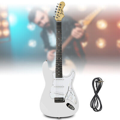 White Full Size Electric Guitar ST Strat Style with Tremolo Johnny Brook JB412