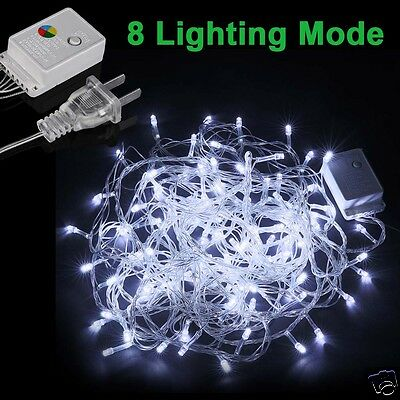 Waterproof Cool White LED Christmas Fairy Xmas String Party Decor Lights Lamp