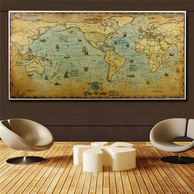- Home Decor The Old World Map Large Vintage Style Retro Paper Poster 72*36cm