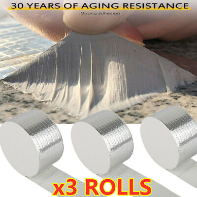 3rolls Aluminium Foil Tape Self Adhesive Heat Insulation Repair Adhesive Tape Us