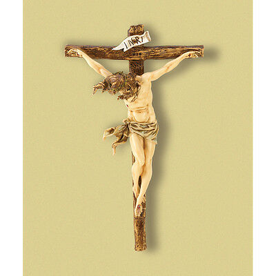 "- CRUCIFIX JESUS Statue LARGE 20"" Wall CROSS Big Christian Religious wedding gift"