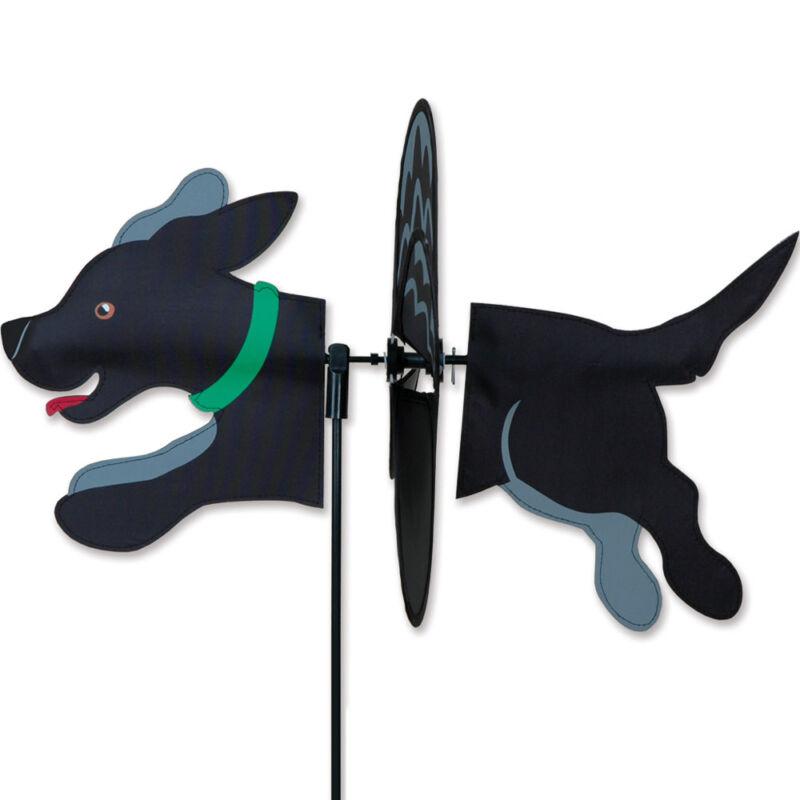 Black Labrador Garden Wind Spinners