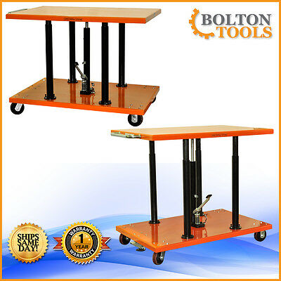 Bolton Tools 2200 Lb Center Post Hydraulic Lift Table Cart Pt-20-3248